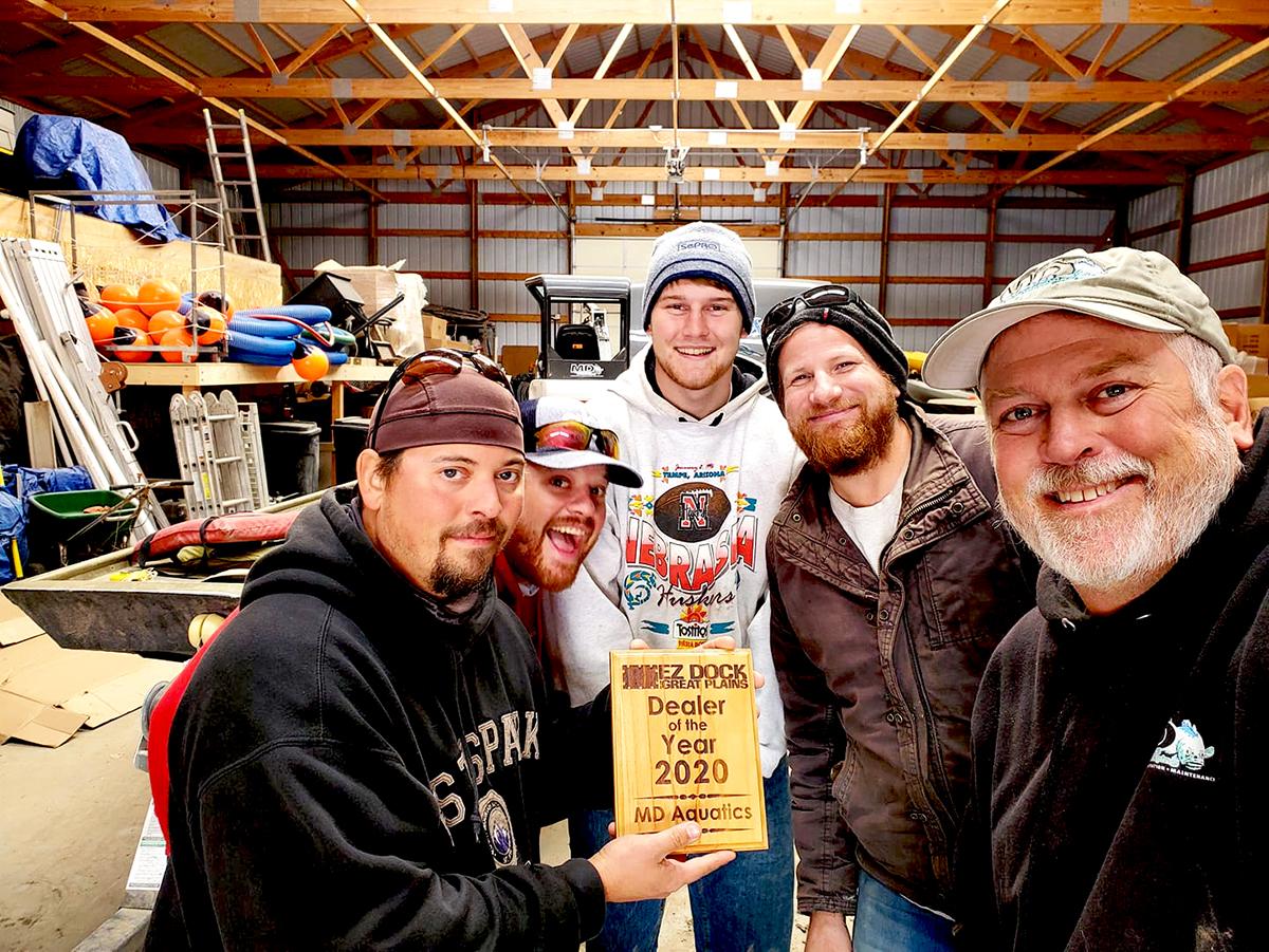 EZ Dock Great Plains dealer of the year award