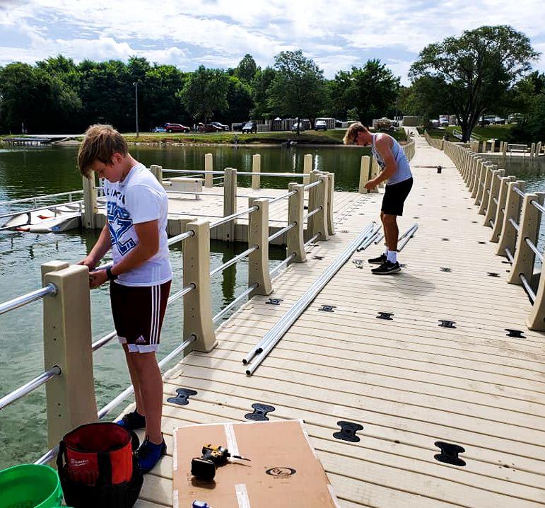 md-aquatics-crew-gangway-railing-installation