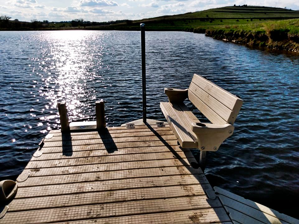 new-dock-install-bench-beautiful-view