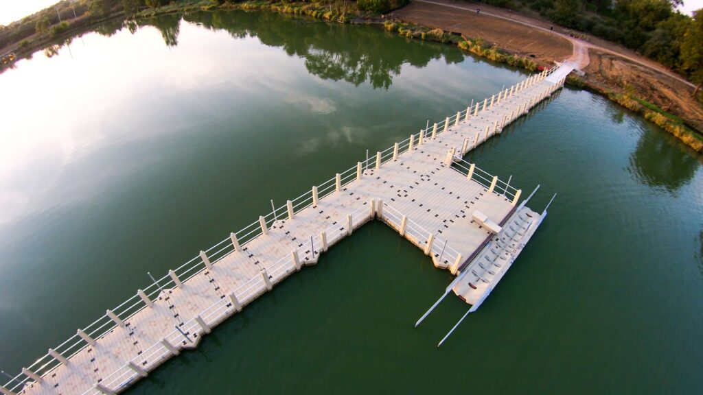 standing-bear-trail-gangway-dock-aerial-view